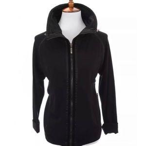 NWT Madison Hill Zip Up Jacket Velvet Trim Sz L